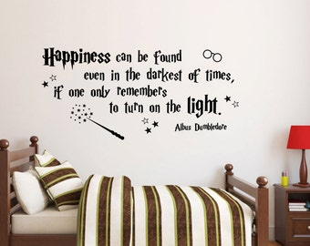 Happiness can be found wall decal Quote decor available in 6 different sizes and 30 different colors