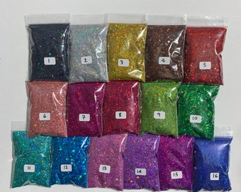 Sale!!Glitter, Holographic glitter, 3mm mixed sequins holographic glitter powder, nail glitter, glitter for craft,cosmetic glitter