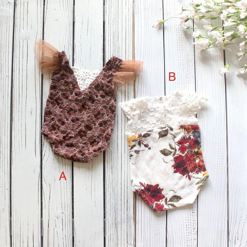 baby romper romper for girls baby photo prop Newborn photo prop flower romper newborn girl photo prop floral romper newborn romper