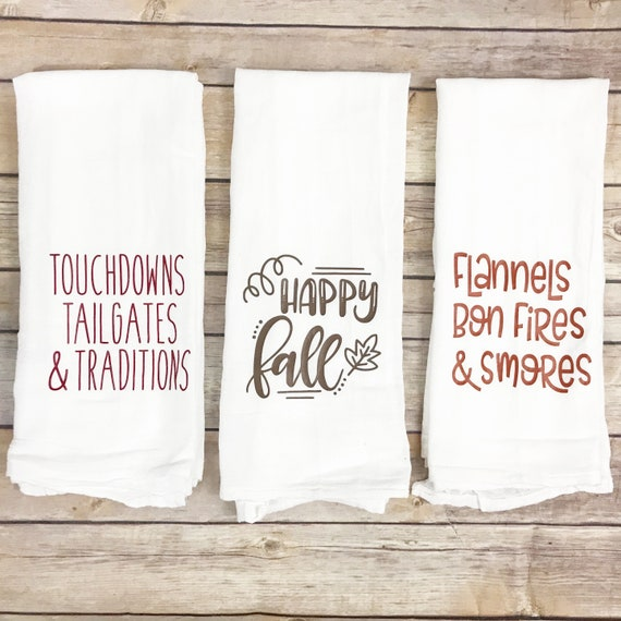 Fall Flour Sack Towel Set