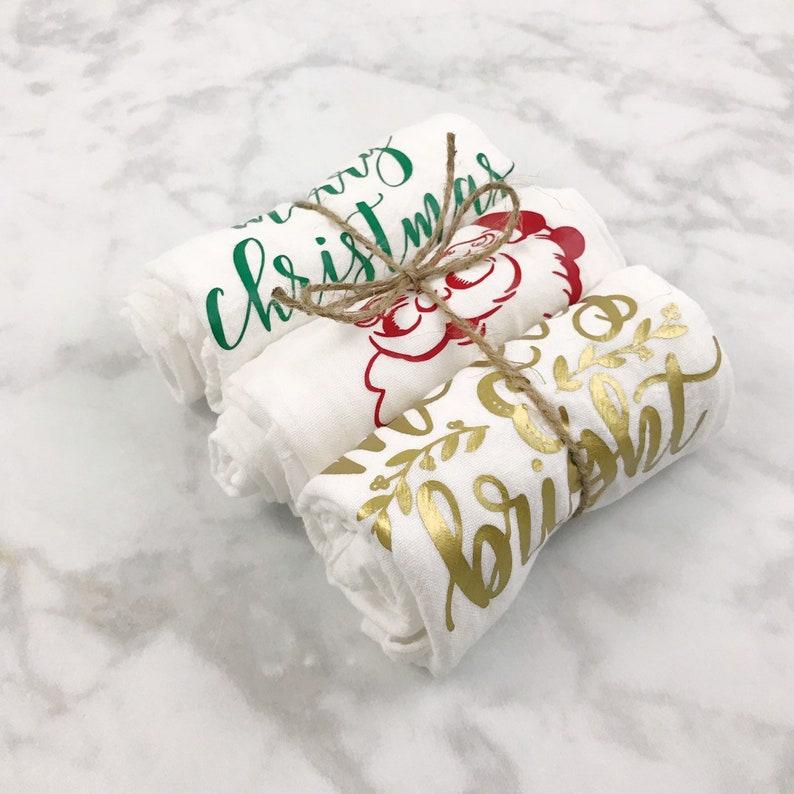 Christmas Flour Sack Towels  Christmas Hostess Gifts  image 4