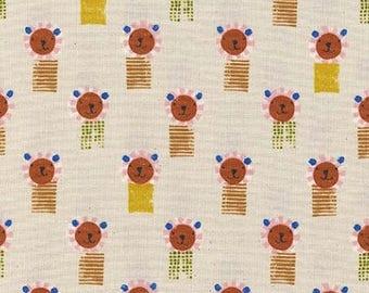 Cotton + Steel- Sunshine- Lions in White- Alexia Abegg