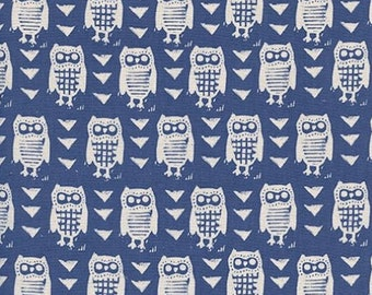 Cotton + Steel- Hooties in Blue- Firelight- Alexia Abegg
