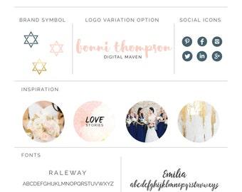 Brand Board Template - Design Your Own Visual Brand Identity Mood Board