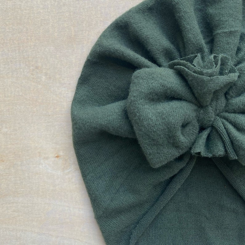 Olive Sweater Bow Cap