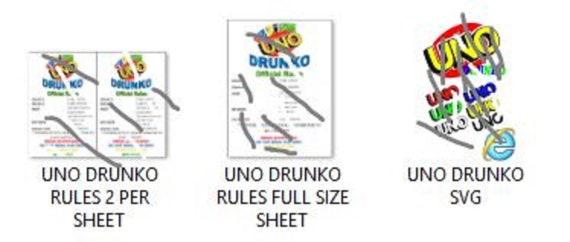 Uno Drunko File Plus Svg For Glasses Etsy