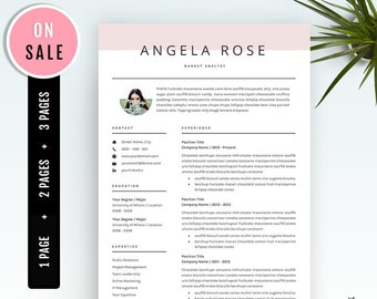 resume template professional cv template for word us etsy