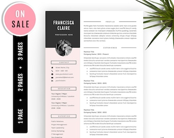 Professional Resume Template - for Microsoft Word (US Letter and A4) 1 2 3 Pages  - Instant Download