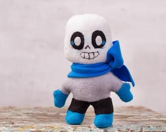 Blueberry Sans soft plush toy - Undertale Inspired, pocket plush toy