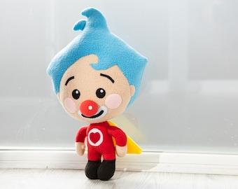 Plim Plim plush Clown plush handmade soft toy, made to order