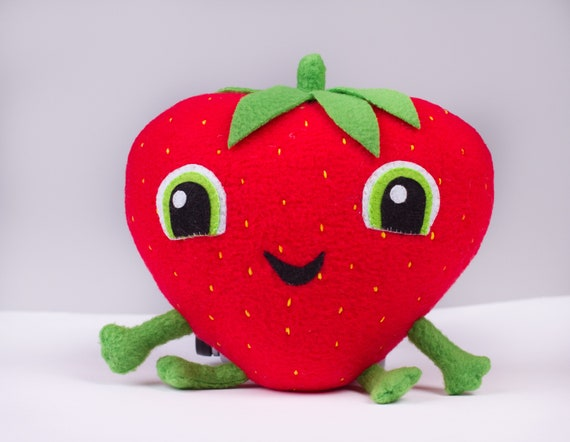 Strawberry plush toy inspired by Cloudy with a chance of meatballs,Barry, 5.1x5.9 in