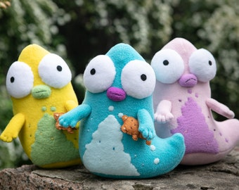 Solar Opposites Pupa inspired - handmade Pupa plush, soft toy 9 in , made to order