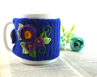 Coffee Mug Cozy, Cup in a knitted cover,Coffee Cup Sleeve, Coffee Cozy, Coffee Cup Cozy, Tea Cozy, Mug Warmer, Coffee Sleeve, gifts under 20