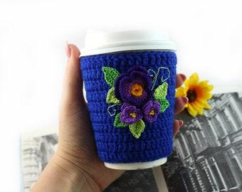 Crochet coffee cozy Coffee Cup Cover Cup cozy Coffee sleeve Crochet coffee sleeve Mug cozy Sleeve