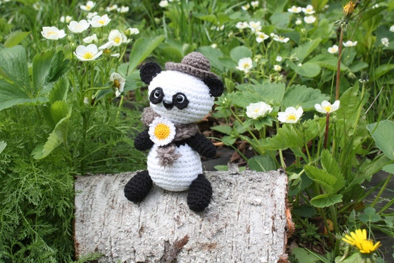 Panda Bear (English), PDF crochet bear pattern, cute crochet panda ... | 380x570