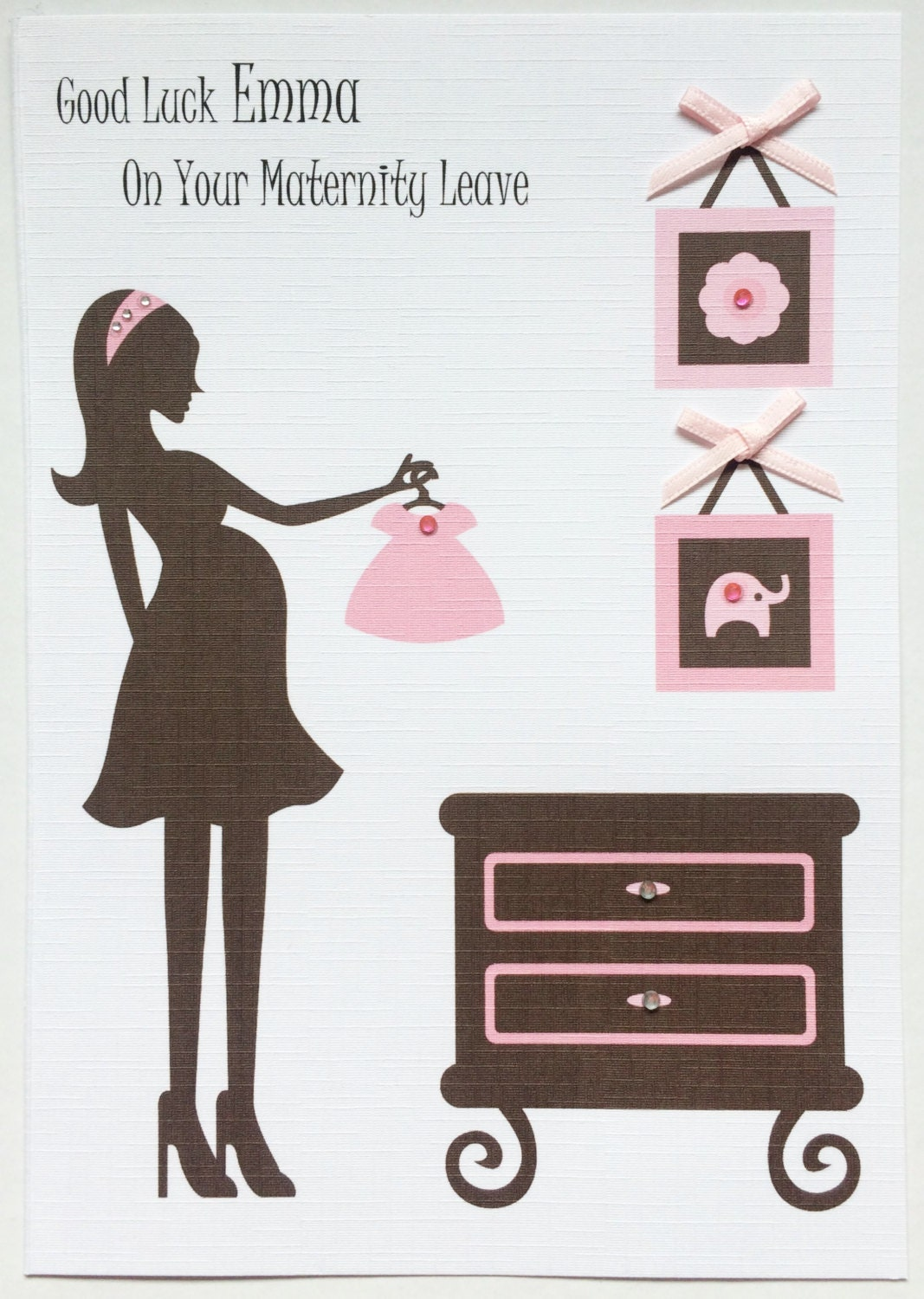 Personalised Pink Mum To Be Maternity Leave Card Etsy
