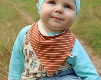 Organic Bandana Bib: Handmade Baby Bib, Organic Bibs, Dribble Bib, Baby Bibdana, Organic Baby Clothes, Hipster Baby, Baby Gift, Striped Bib