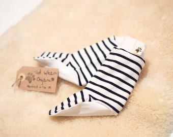 Organic Leg Warmers: footed leg warmers, long socks, baby socks, baby booties, cute baby girl, cute baby boy, baby shower gift, stripe socks