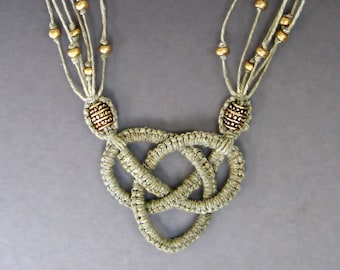 Josephine Knot Necklace Tutorial