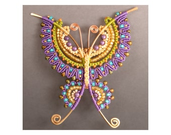 Butterfly Brooch Tutorial (Micro-Macramé)