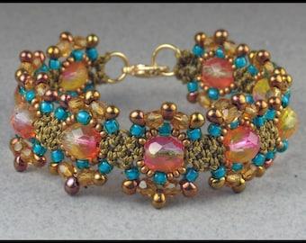 Square Knot Flower Bracelet Tutorial