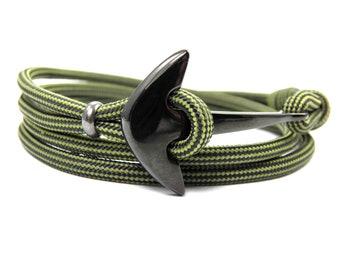 Anchor Bracelet-Surfer Bracelet-Men Bracelet-Women Bracelet-Stainless Steel Anchor-Paracord Bracelet-Anchor Paracord Bracelet
