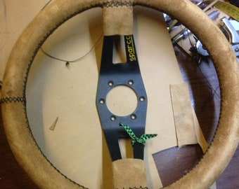 Leather-lined steering wheel