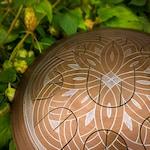 "MINI handpan with nine petals - GUBAREV drum MINI Overton Plus ""Gold Circles"" rope decoration steel tongue drum petal  percussion tankdrum"
