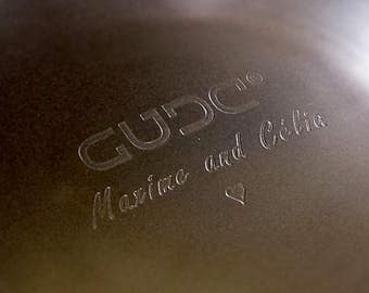 ETCHING on the metal your NAME or Other on the Gubarev drum, Handpan, Steel Tongue Drum, handmade music instrument
