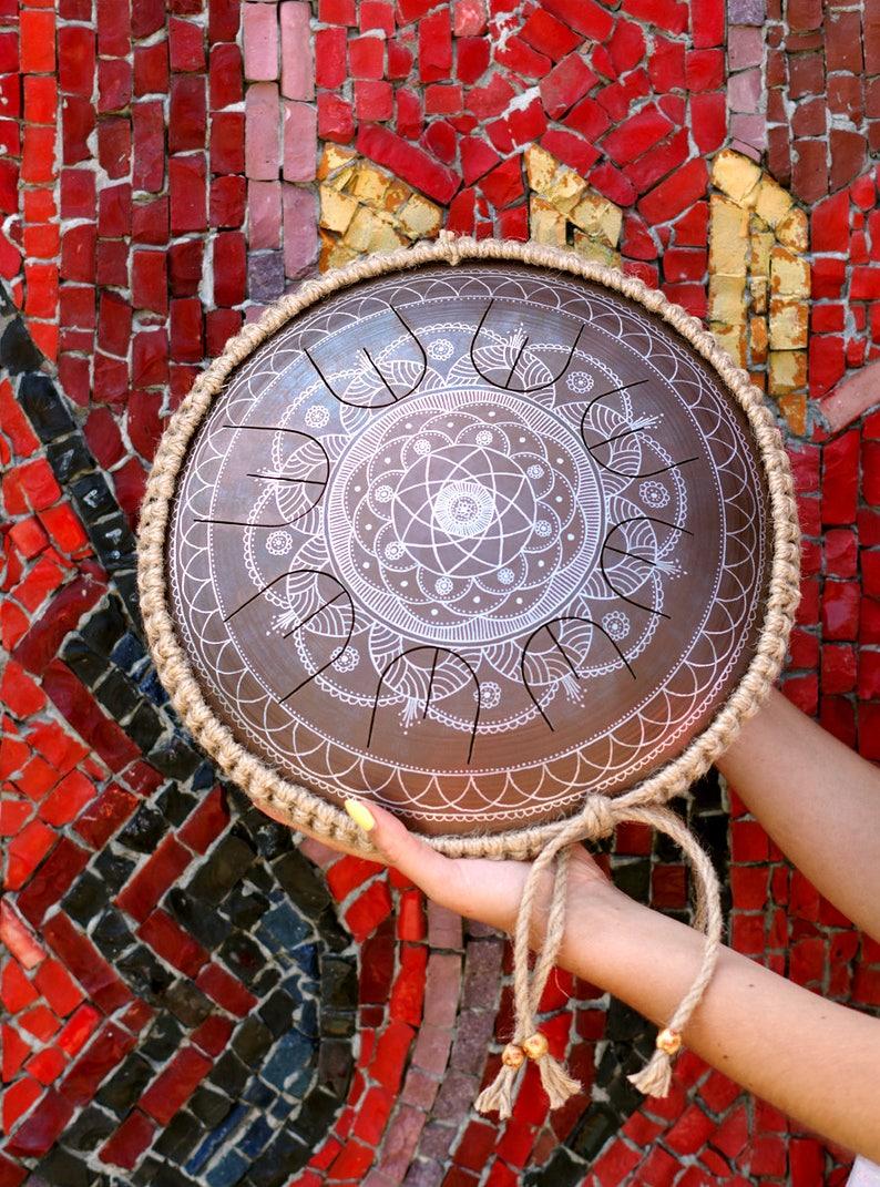 Steel Tongue Drum  GUBAREV drum MINI Overtone image 0