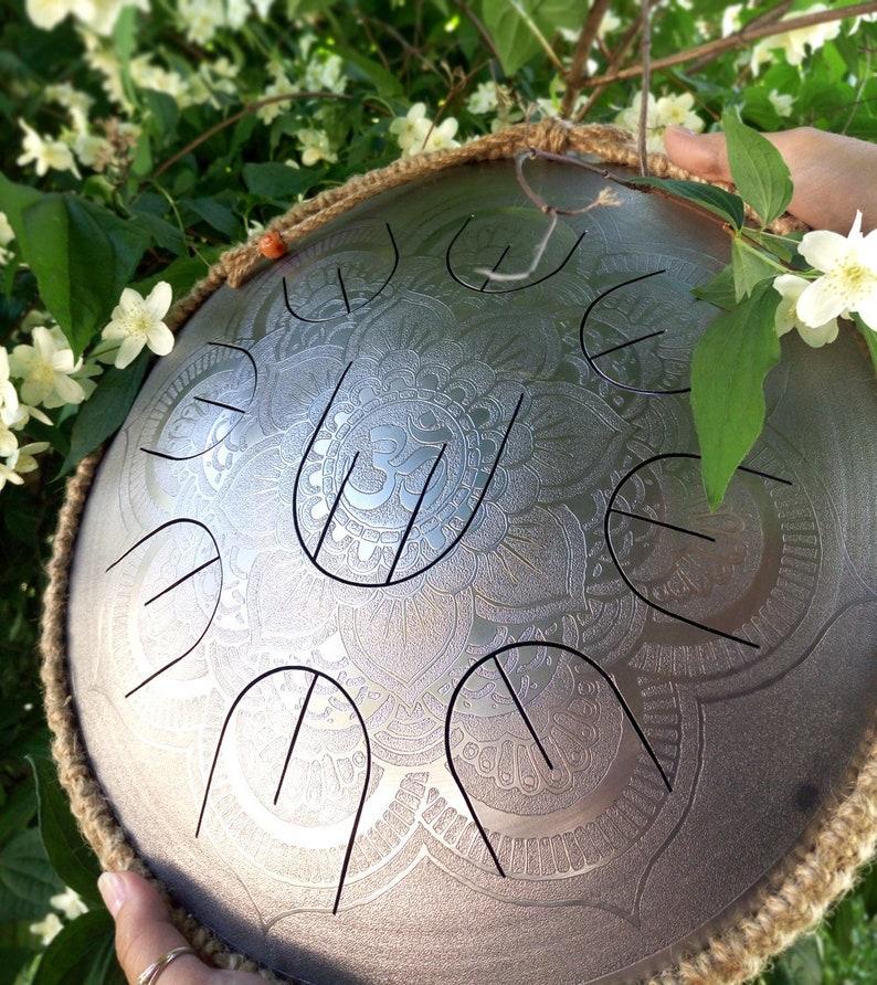 MINI Handpan with nine petals  GUBAREV drum MINI Overton Plus image 0