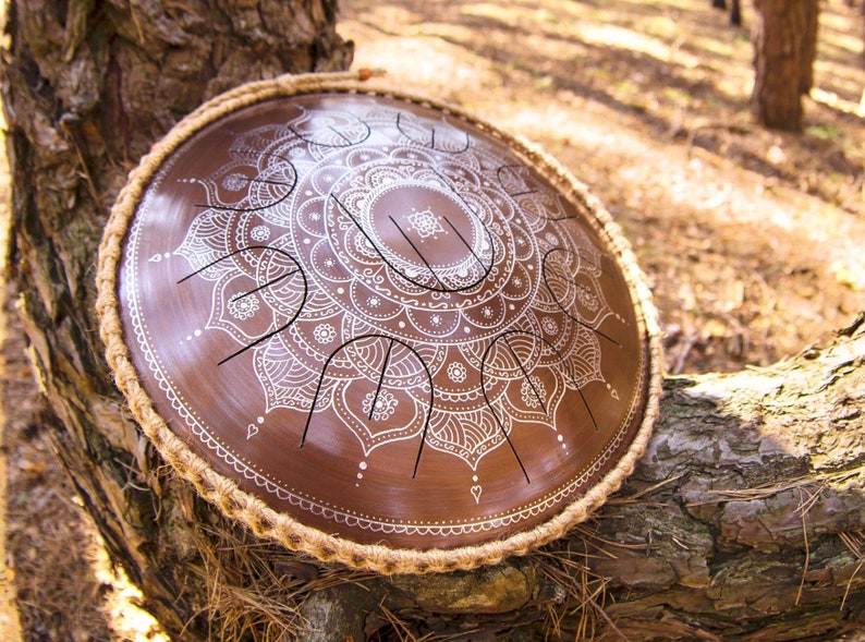 Especially for travel steel tongue drum Frozen Flower with image 0