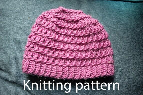 96fbea2966f Knitting hat pattern Granitt hat Knitting beanie pattern