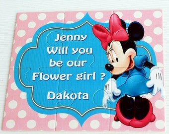 Flower Girl Proposal Puzzle,Will You Be My Flower Girl,Ask Flower Girl, Flower Girl Gift,Personalized Flower Girl Puzzle,Puzzle Flowergirl