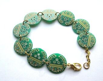Round Circuit Board Bracelet | Geeky Jewellery