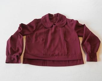 50's Purple /  Magenta Blouse Polyester
