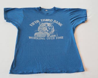 70's Banking Tiger Shirt Blue