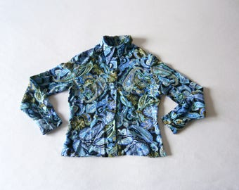60's Blouse Paisley Carnaby Street Psychedelic
