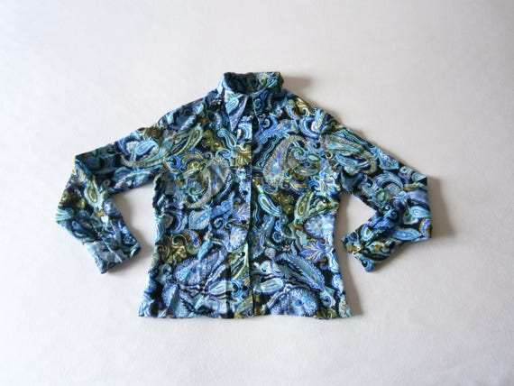 60's Vintage Blouse Paisley Carnaby Street Psyched