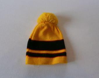 70's Vintage Yellow Wool Winter Hat