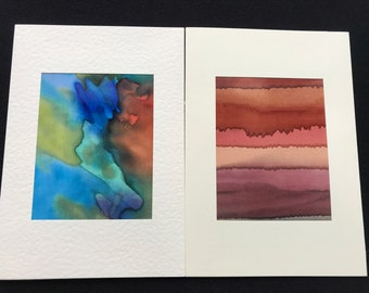 2 greeting cards, Pack of 2 greeting cards, Abstract greeting cards, Printed greeting cards(Pack 2)