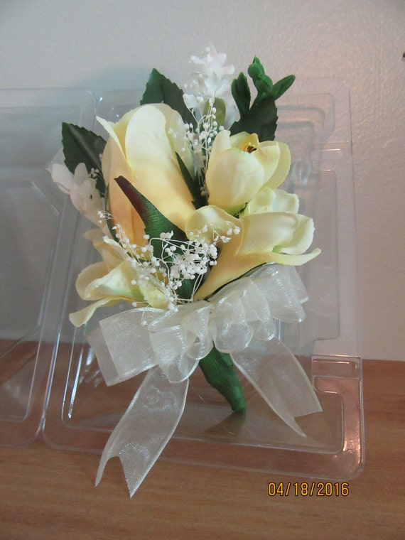 3 Yellow Corsages Wedding Flower Decoration Favors USA Seller Quick Delivery