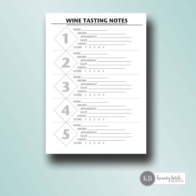 image about Wine Tasting Sheets Printable known as printable wine tasting rating playing cards wine tasting bash tasting notes  5x7 instantaneous obtain
