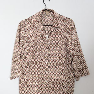 Vintage Notations Petite Bright Splattered Button Up