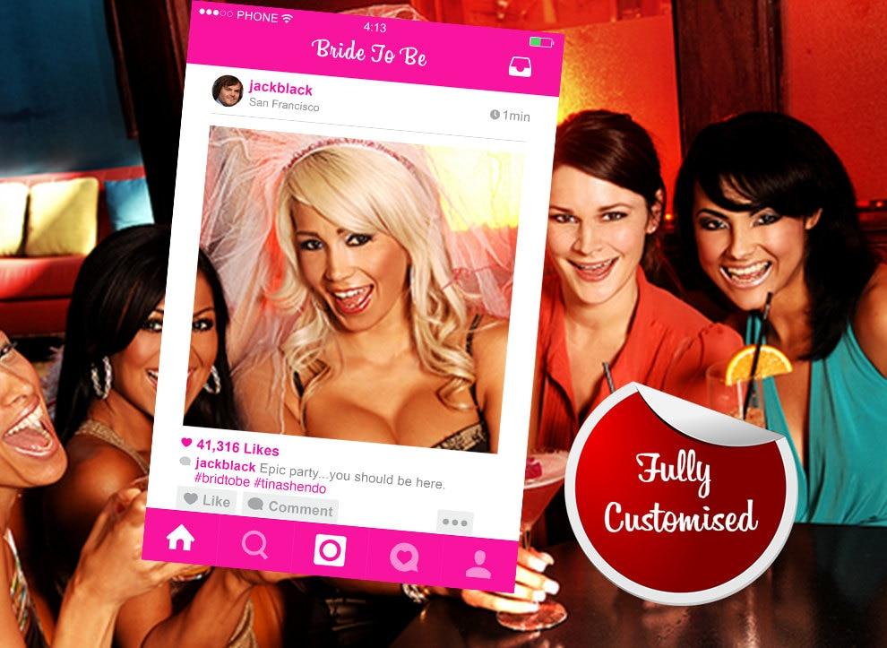 Bachelorette Party Photo Booth Prop Instagram Prop Digital