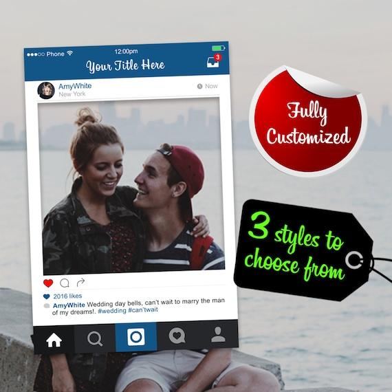 Instagram Frame Prop Digital File Only Large Instagram Photo Etsy