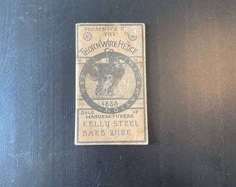 The Thorn Wire Hedge Useful Information 1883 Manufacturers of Kelly Steel Barb Wire booklet 48 pgs. Rare, unusual information facts