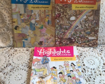 Highlights 1989 Magazines choose from 3 March, May, December vintage children's games puzzles reading activities crafts, jokes