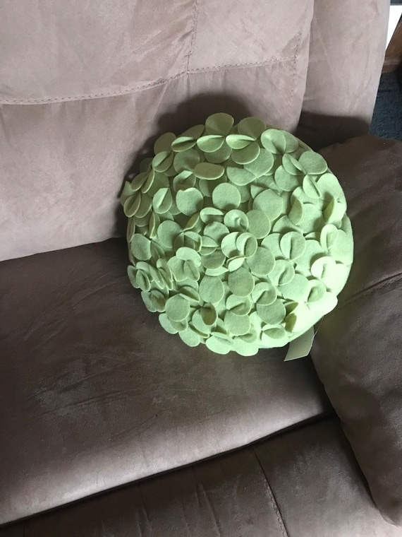 Mossy Green Throw Pillow NWT Round 13\