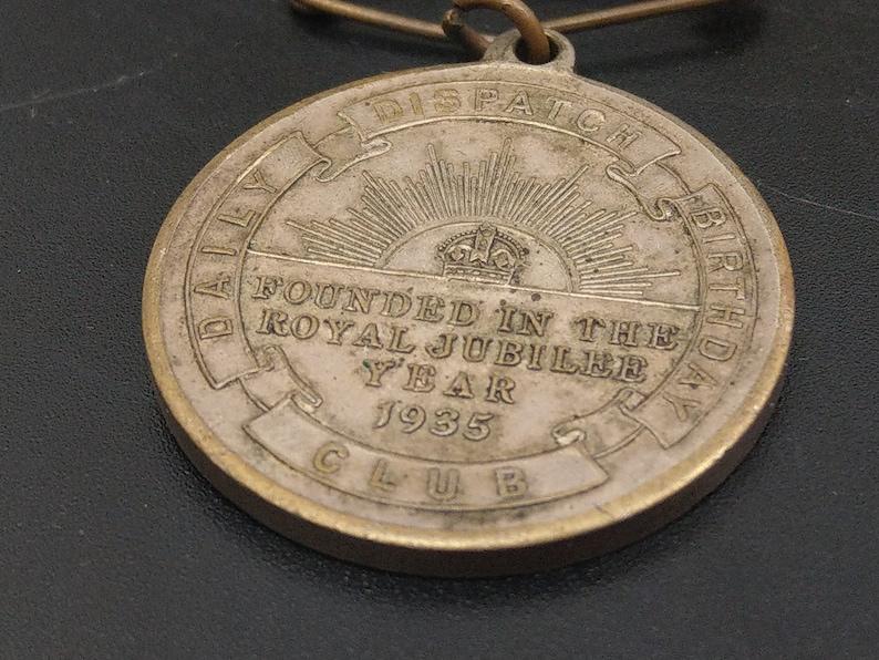 George V Royal Jubilee Daily Dispatch Medal Birthday Club 1935